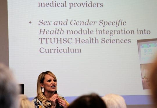 One of three speakers at Wednesday's meeting of the 20th Century Study Club was Elyse Lewis, the women's health and community initiatives coordinator at Hendrick Medical Center and director of community outreach at the Laura Bush Institute at the Texas Tech University Health Sciences Center in Abilene.