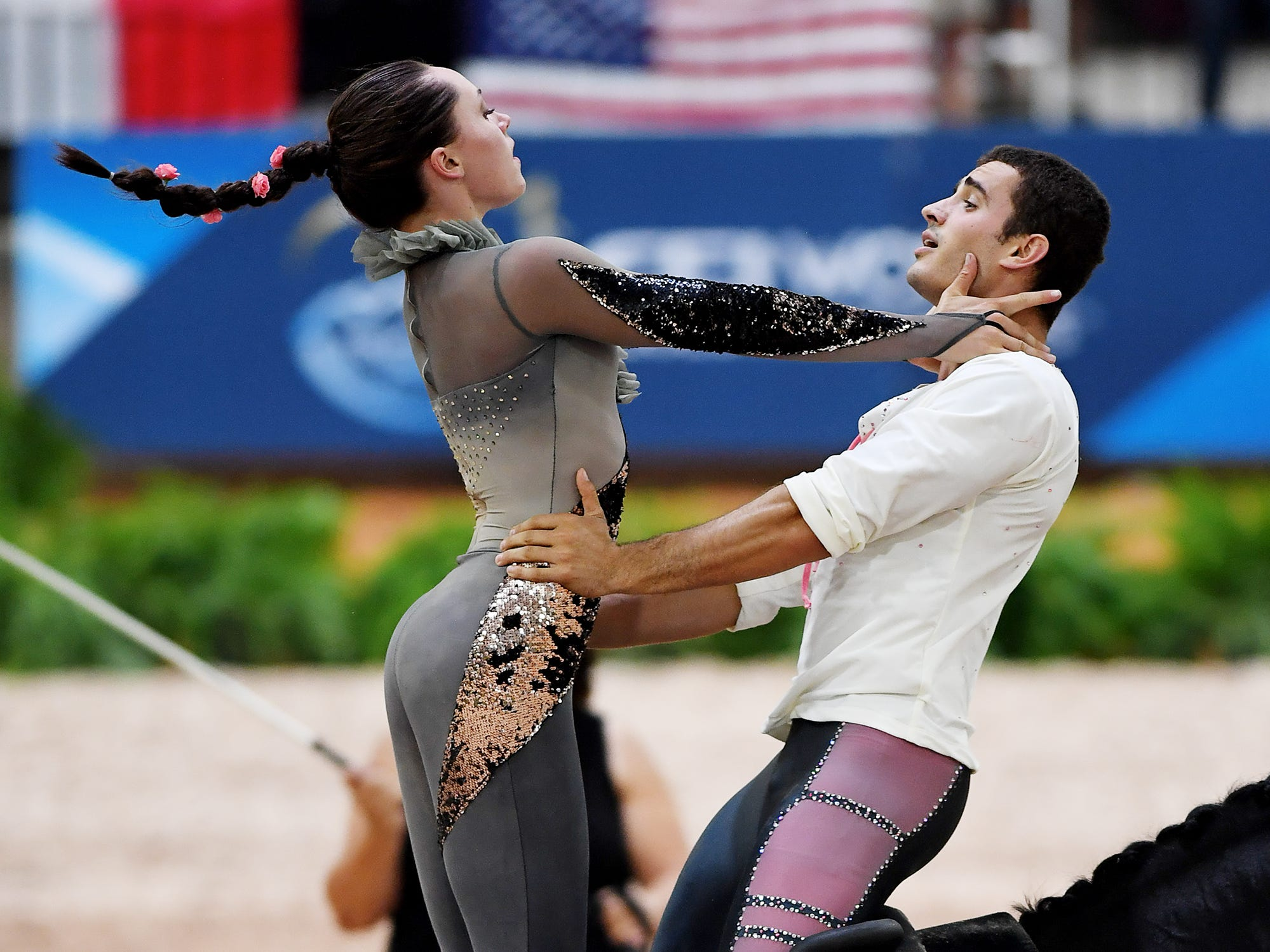 Scenes from the vaulting competition at the World Equestrian Games Sept. 19, 2018.