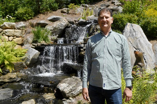 Ken Bowdon at his Balsam Mountain Preserve home in Jackson County.