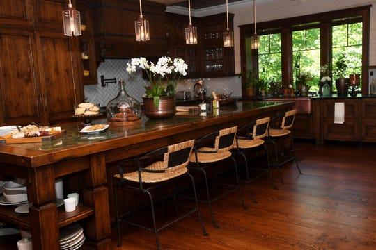 Bobbye and Ken Bowdon's kitchen at Balsam Mountain Preserve.