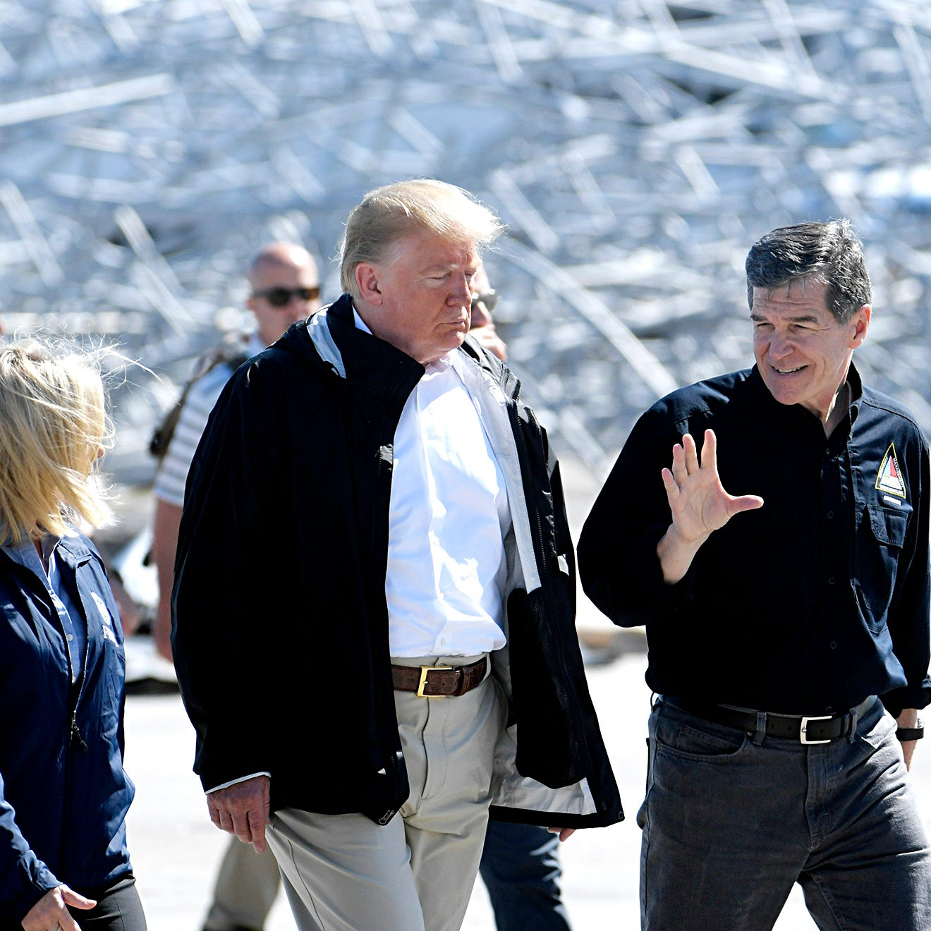 Trump visits North Carolina to survey Florence devastation