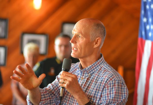 Gov Scott Campaigning In Titusville Wednesday