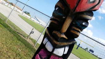 FLORIDA TODAY'S Brian McCallum paid a visit to Minutemen Stadium to learn about Cocoa Beach's new pregame ritual, courtesy of boosters and Chris Gray of Luna Tikis.