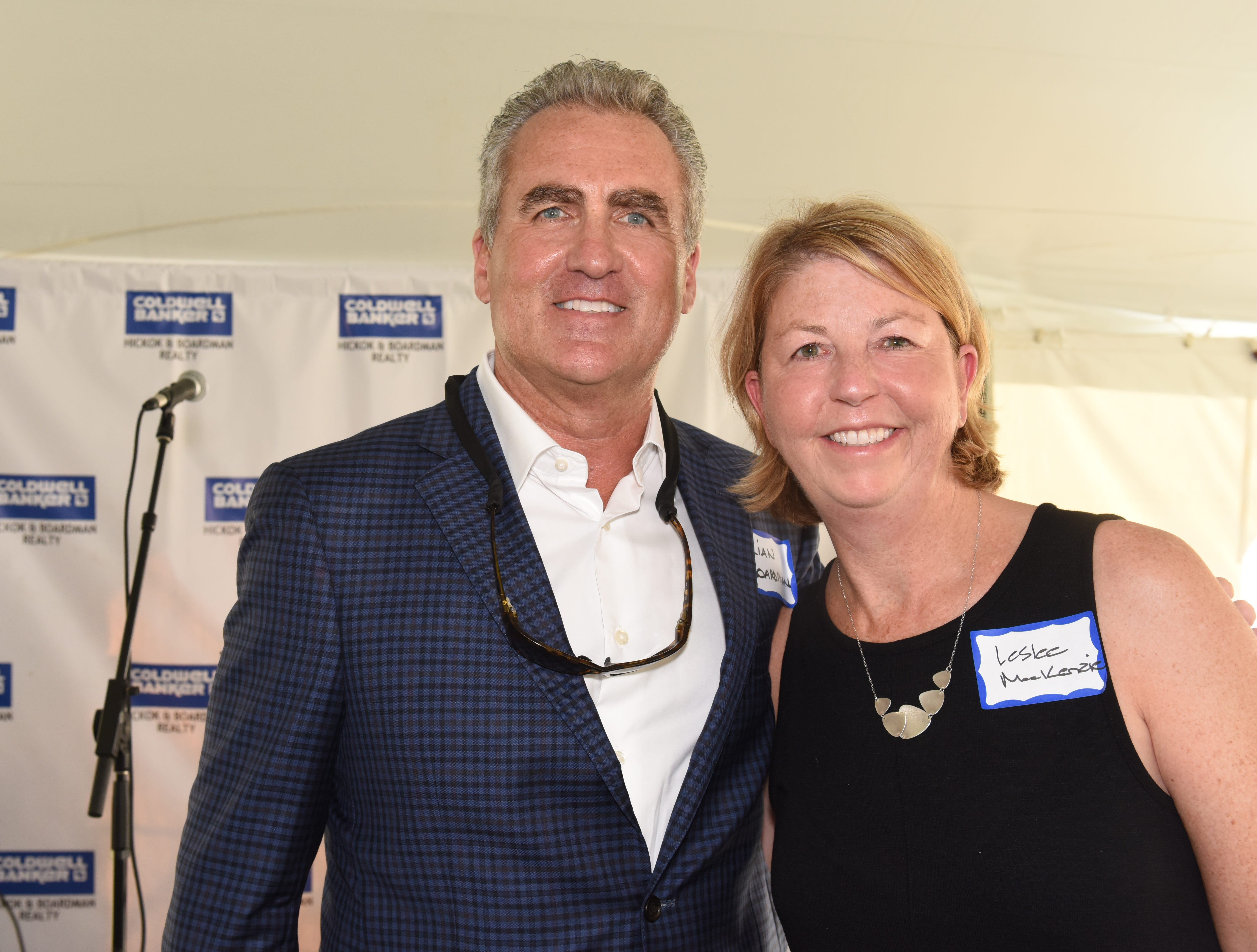 Brian Boardman and Leslee MacKenzie, Partners/Owners in Coldwell Banker Hickok & Boardman Realty host the Coldwell Banker Hickok & Boardman 60th Anniversary on September 13, 2018, with current and past agents and community leaders in Burlington, VT.