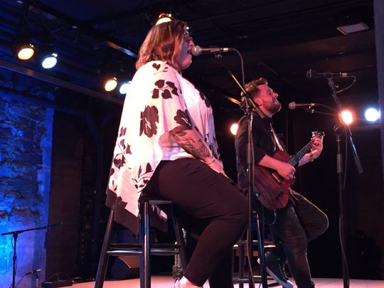 Jennifer Hartswick and Nick Cassarino perform at FlynnSpace during the Burlington Discover Jazz Festival on June 5, 2018.