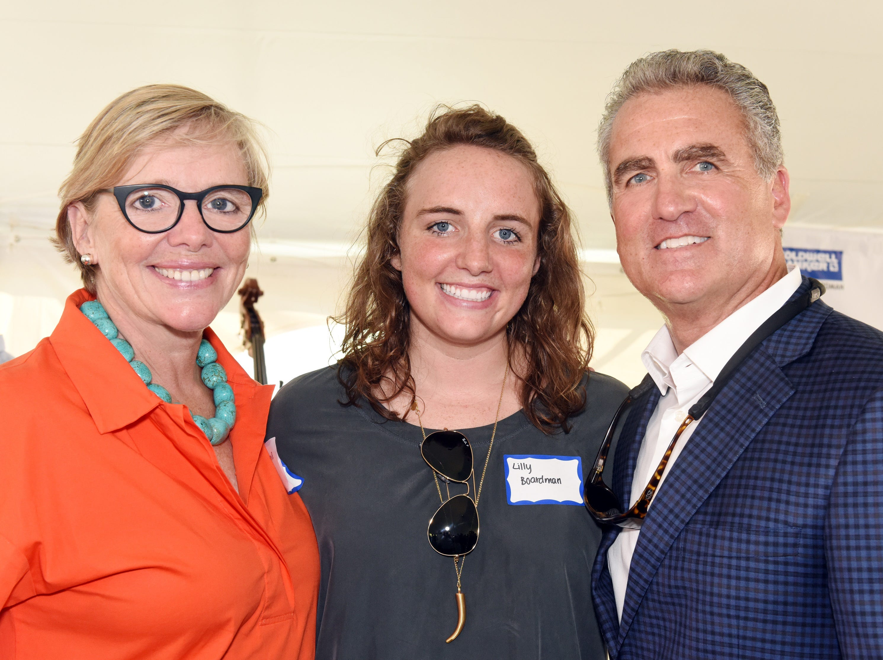 Brooks Boardman, Lilly Boardman, and Brian Boardman, attend the Coldwell Banker Hickok & Boardman 60th Anniversary on September 13, 2018, with current and past agents and community leaders in Burlington, VT.