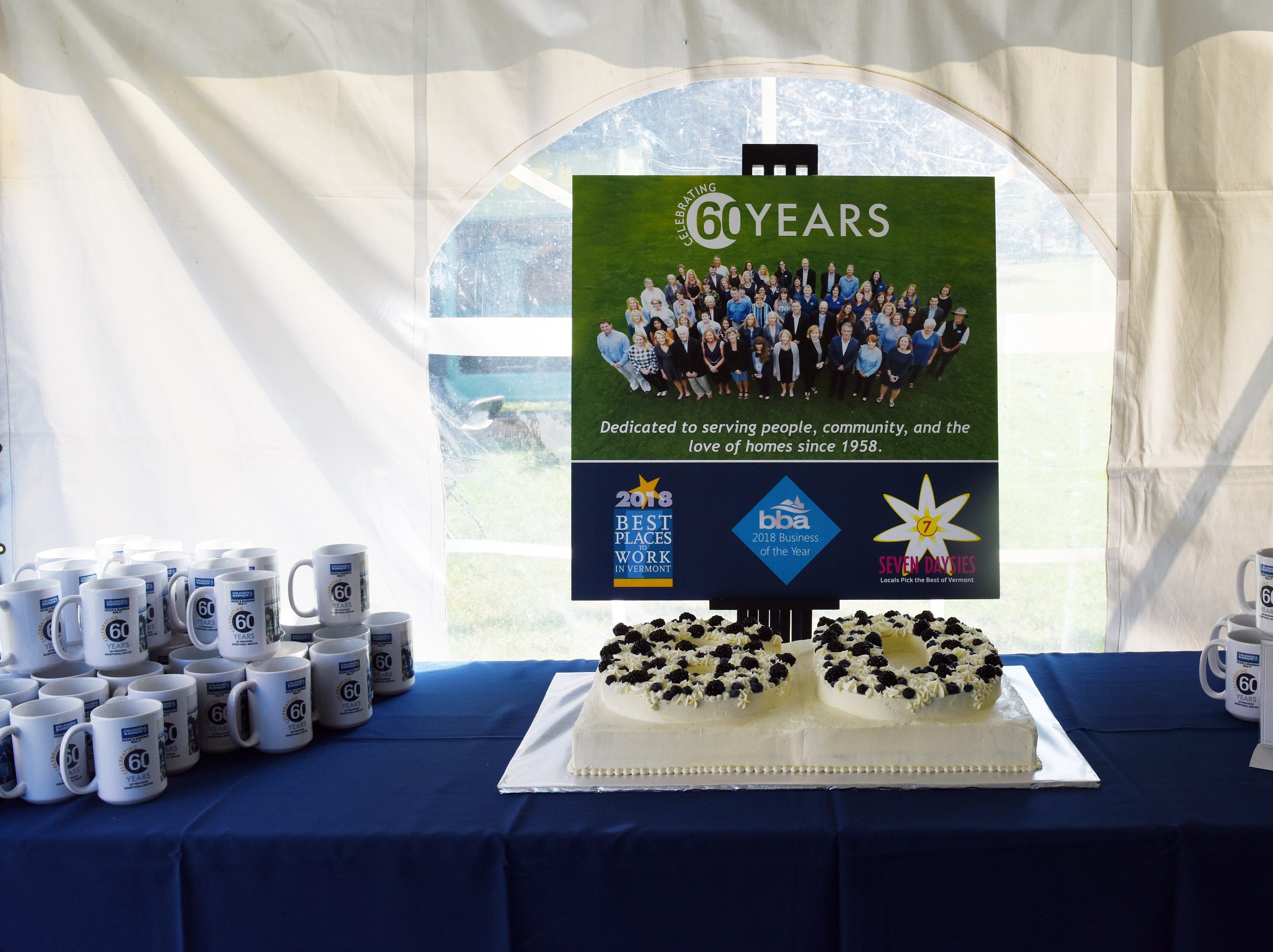 Coldwell Banker Hickok & Boardman celebrate their 60th Anniversary on September 13, 2018, with current and past agents and community leaders in Burlington, VT.