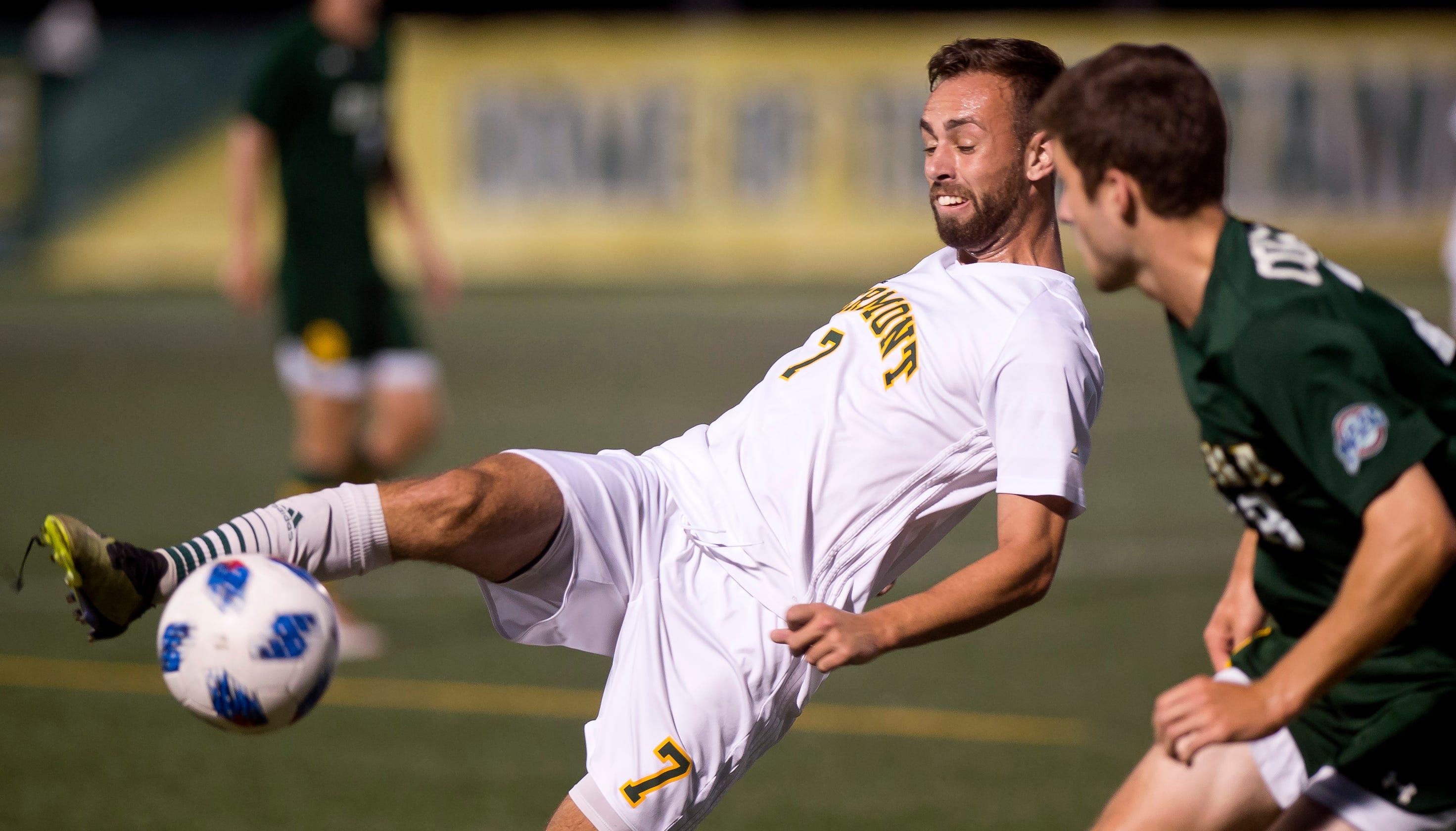 UVM men's soccer bounces back with 3-0 win over UMBC