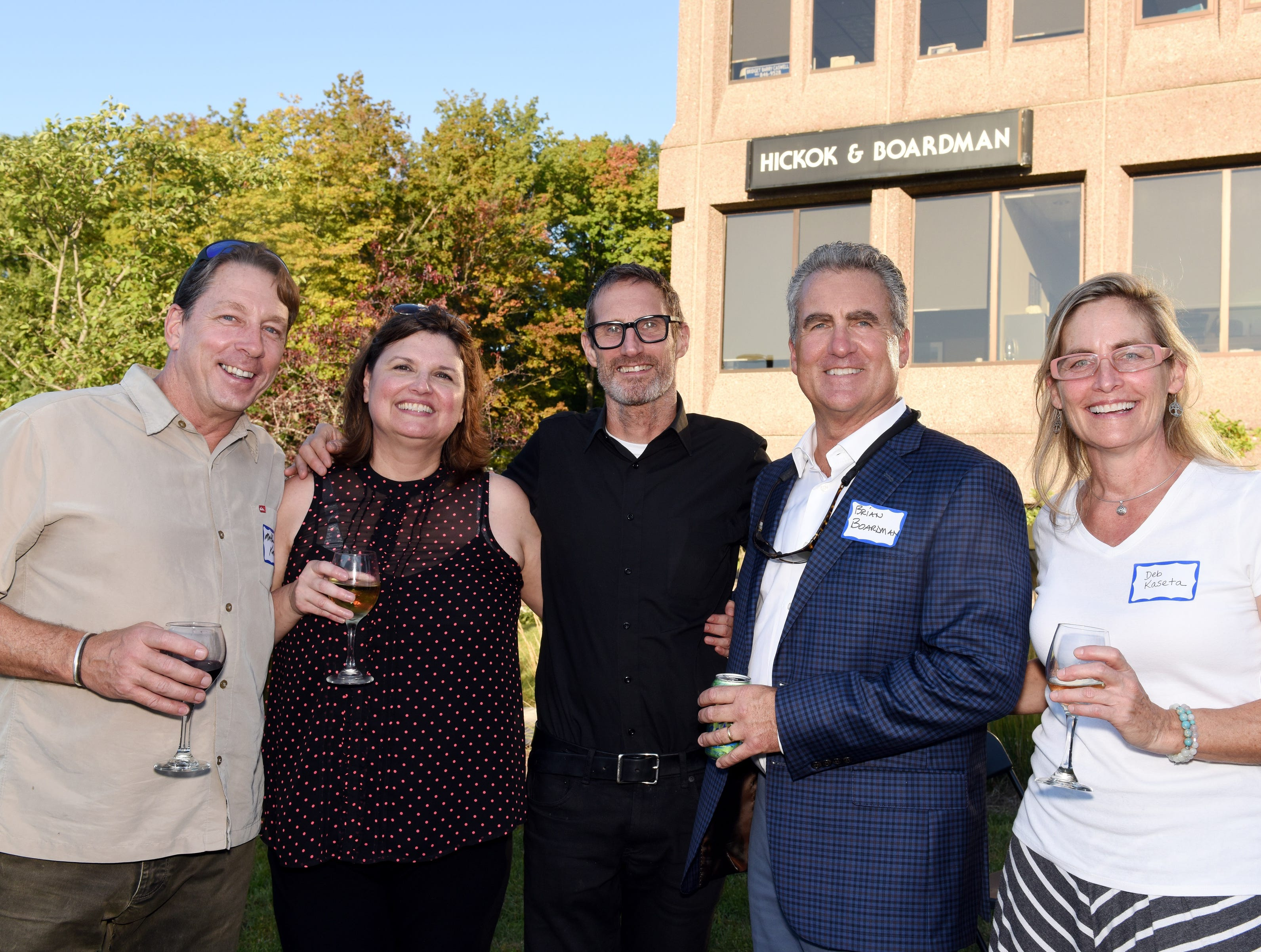 Matthew Kaseta, Claire Smith, Michael Jager of Solidarity, Brian Boardman, and Deb Kaseta came to celebrate the Coldwell Banker Hickok & Boardman Realty's 60th Anniversary on September 13, 2018, with current and past agents and community leaders in Burlington, VT.