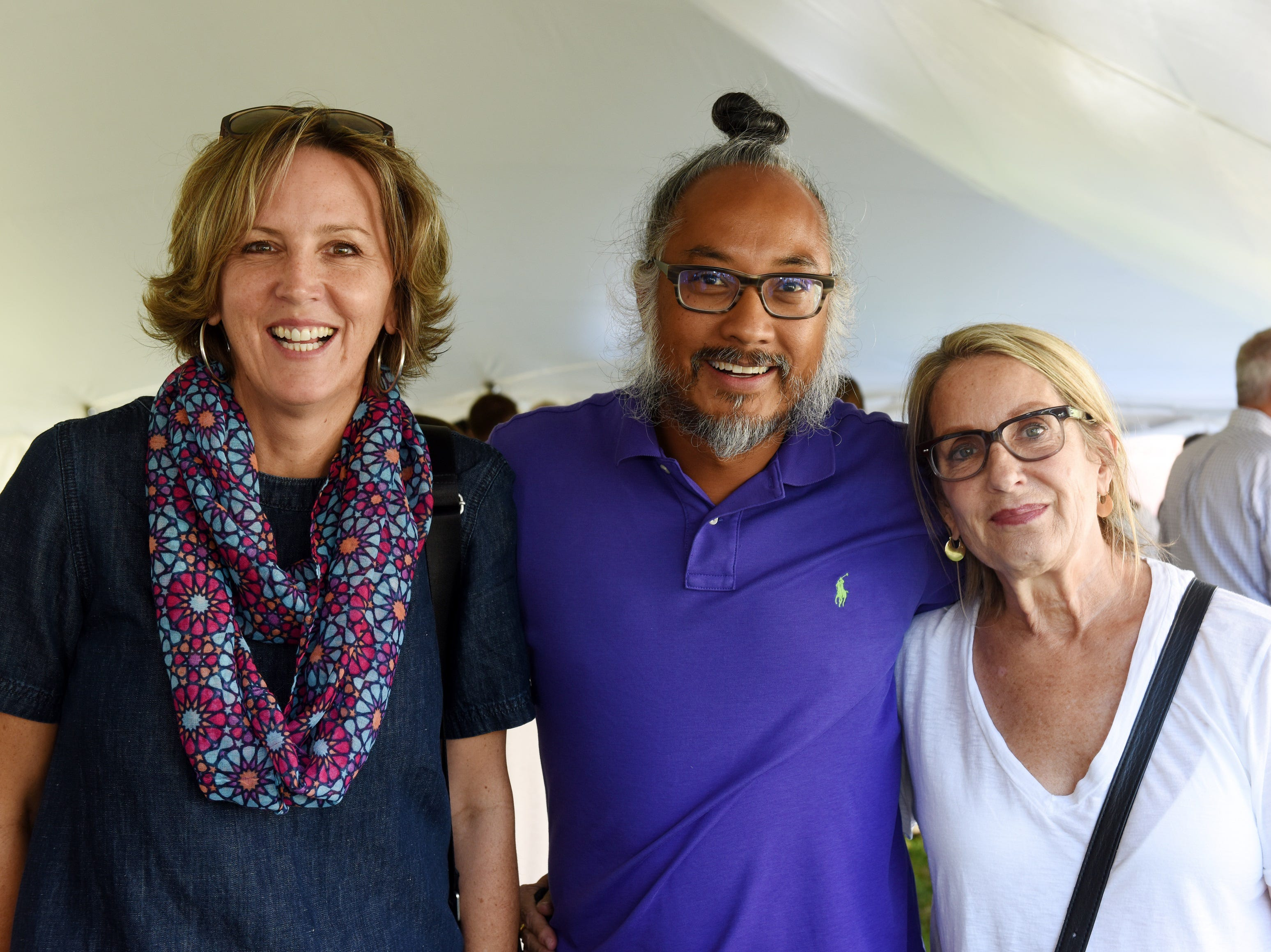 """Julie Thorpe and Ranjit """"Buddy"""" Singh of Spruce Mortgage, with Karen Waters of CBHB attend the Coldwell Banker Hickok & Boardman 60th Anniversary on September 13, 2018, with current and past agents and community leaders in Burlington, VT."""