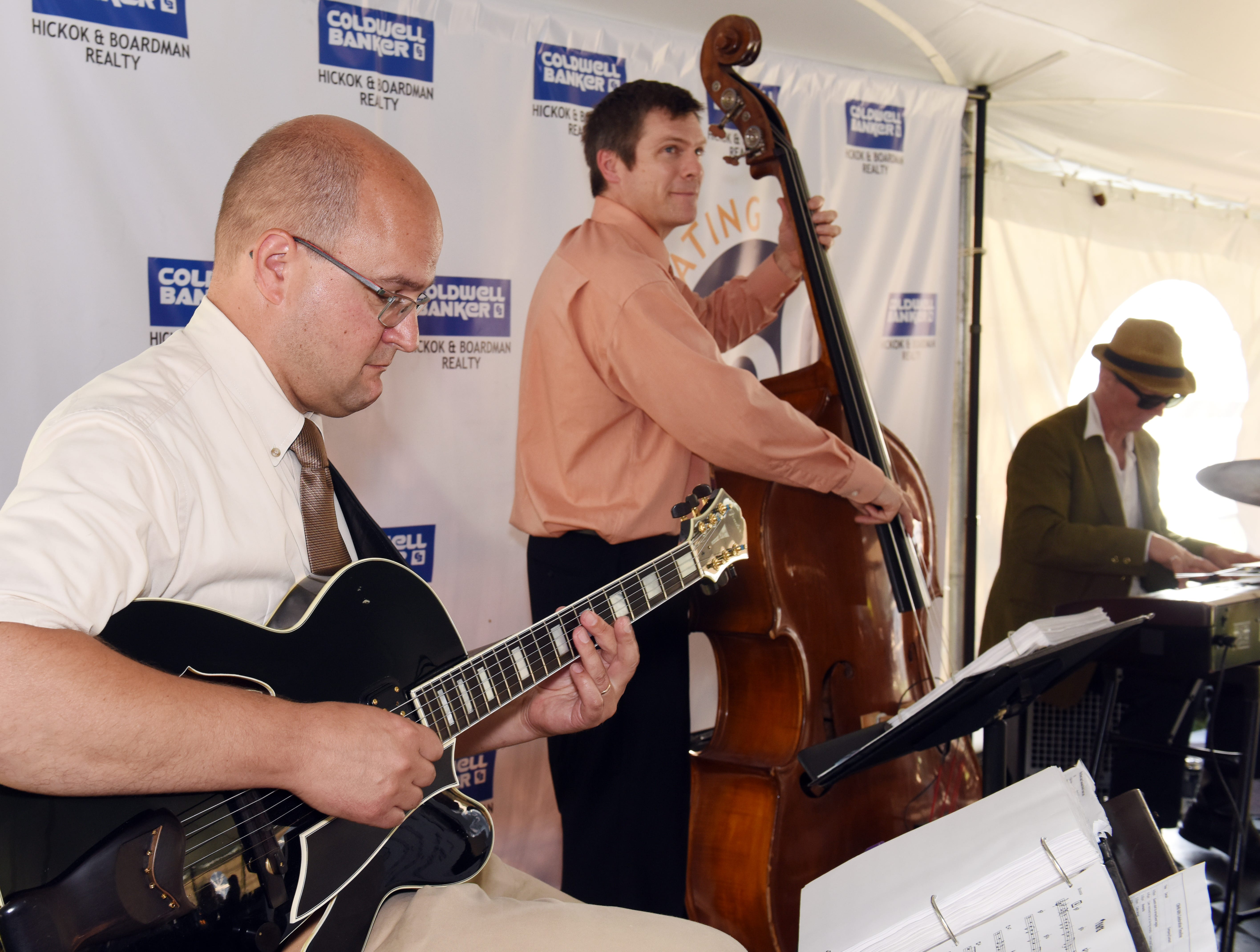 Pine Street Jazz performs at the Coldwell Banker Hickok & Boardman Realty's 60th Anniversary on September 13, 2018, with current and past agents and community leaders in Burlington, VT.