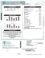 A sample of the Corpus Christi utility bill.