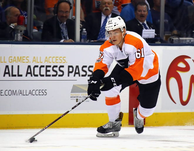 Phil Myers played Wednesday against the New York Rangers, his third preseason game out of the four the Flyers have had thus far.