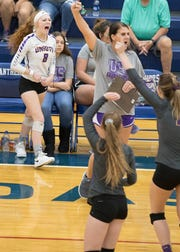 Unioto High School volleyball's Hallie Pinkerton reached 1,000 digs in her high school career.