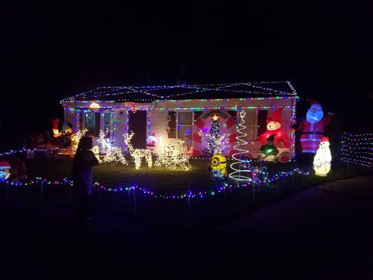 Brody Allen's house is all decked out for Christmas.