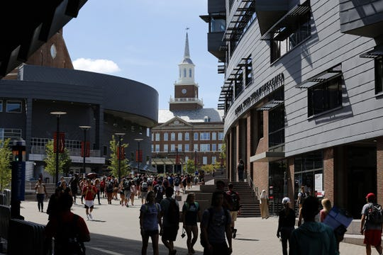 Enrollment at the University of Cincinnati is growing, but the share of in-state freshmen decreased in 2017 compared with five years earlier.