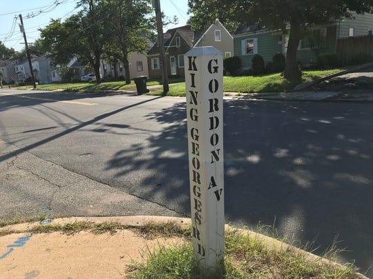 Street sign for the corner in the Fords section of Woodbridge where Korean War veteran James Clement lived.