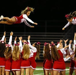 Something to cheer about: Vote for the GMC's best cheerleading game squad!