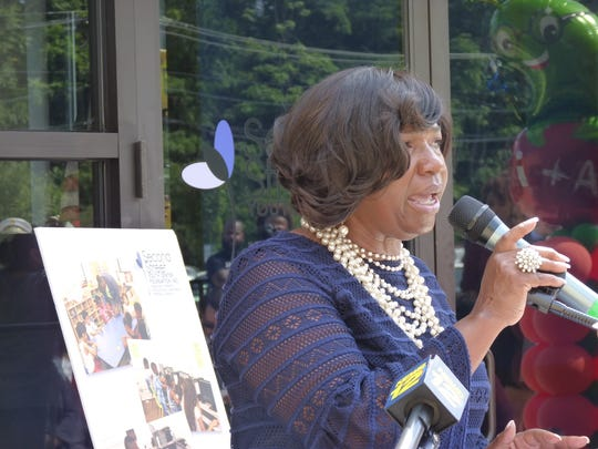 Evelyn Motley, the director of the Office of Early Childhood Programs and Services for Plainfield School District, at the unveiling ceremony of the Second Street Youth Center.