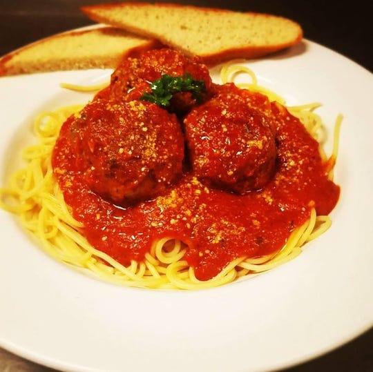 Classic spaghetti and meatballs from Blue Tomato Kitchen.