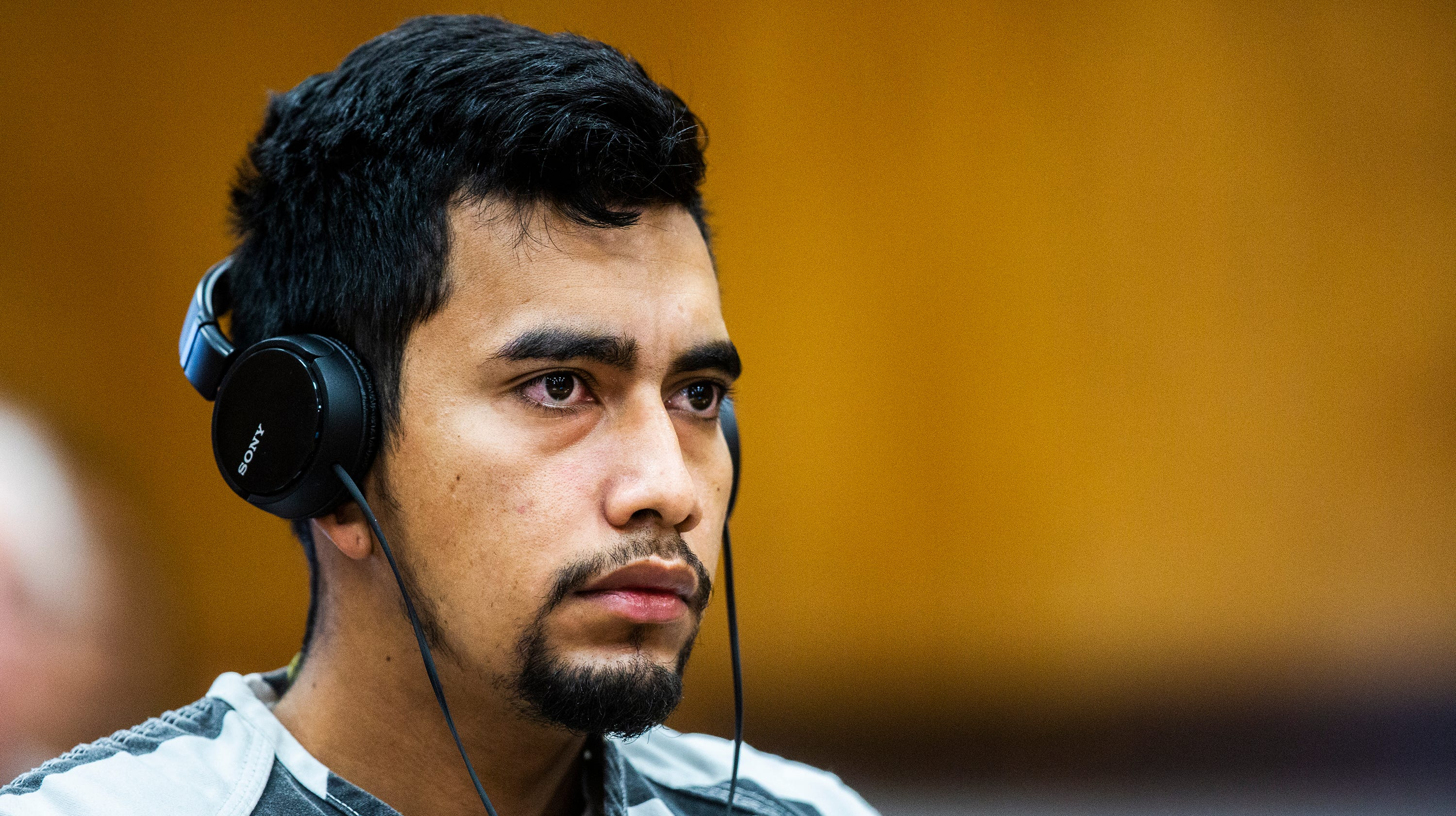 Cristhian Bahena Rivera, 24, pleads not guilty to the charge of first-degree murder in the death of Mollie Tibbetts on Wednesday, Sept. 19, 2018, at the Poweshiek County Courthouse in Montezuma.