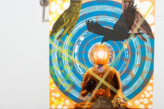"A piece from John Gutoskey's ""PULSE Nightclub: 49 Elegies"" at the 2018 ArtPrize."