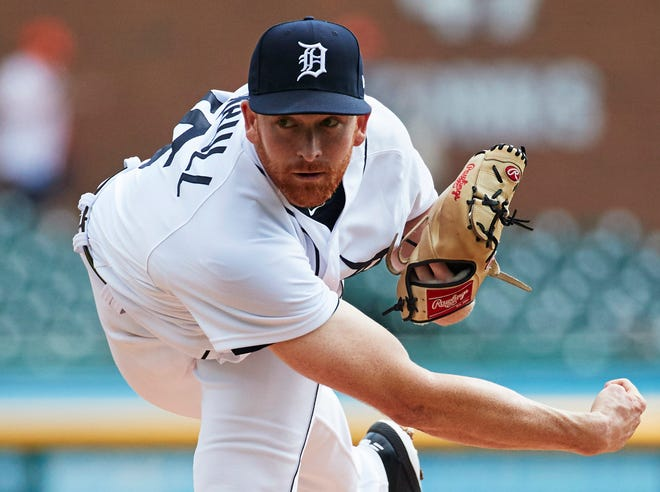 Tigers pitcher Spencer Turnbull pitches Sept. 19 at Comerica Park.