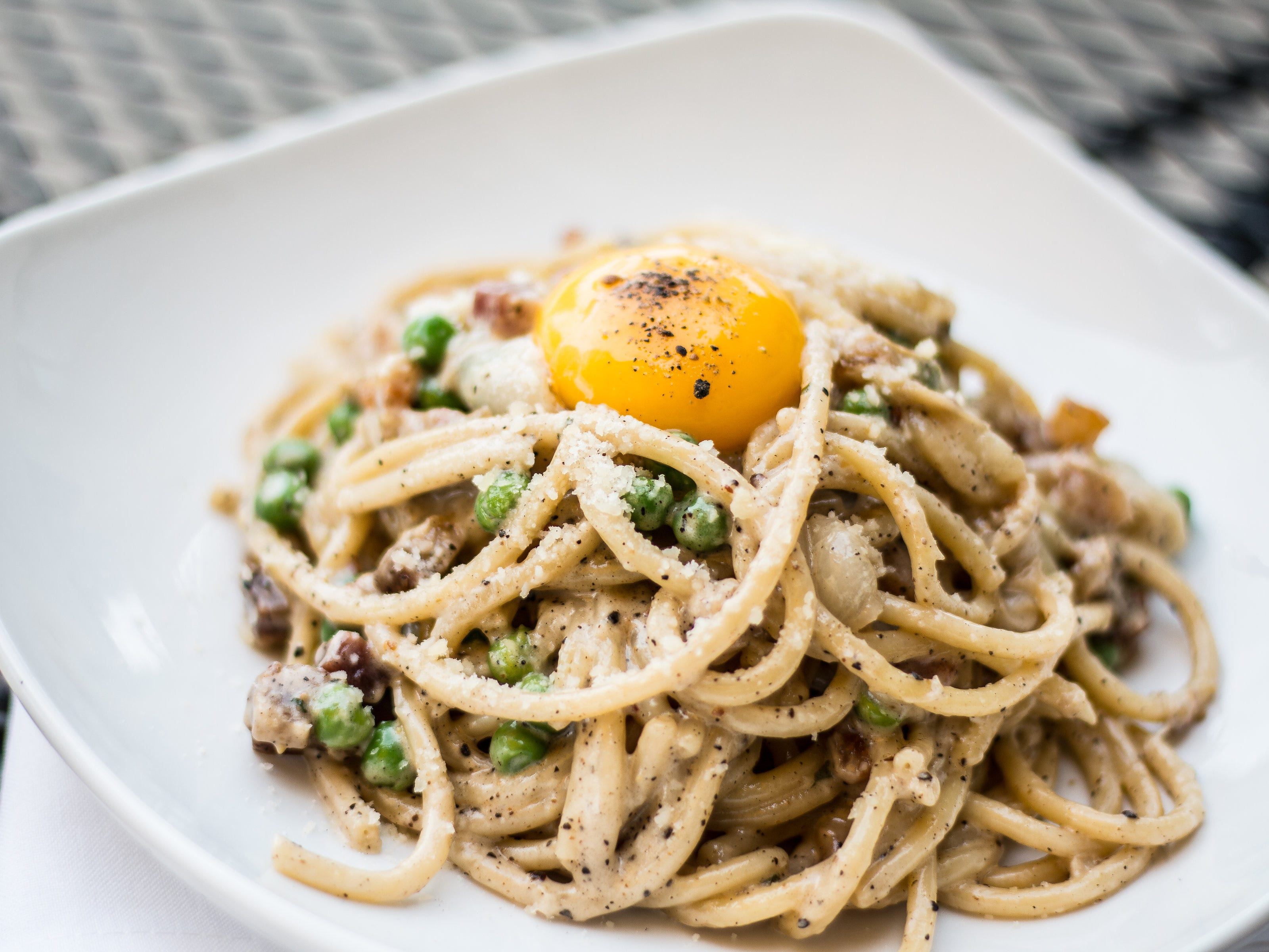 House-made bucatini carbonara with black pepper cream sauce, pancetta and peas from Cello Italian Restaurant. The Howell-based restaurant is serving its menu at Red Fox in Royal Oak until Dec. 31, 2018, as a test run for a future Cello on Main Street.