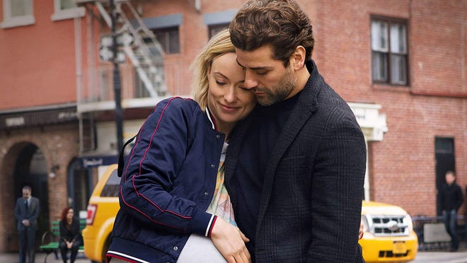 "Olivia Wilde and Oscar Isaac in ""Life Itself."""
