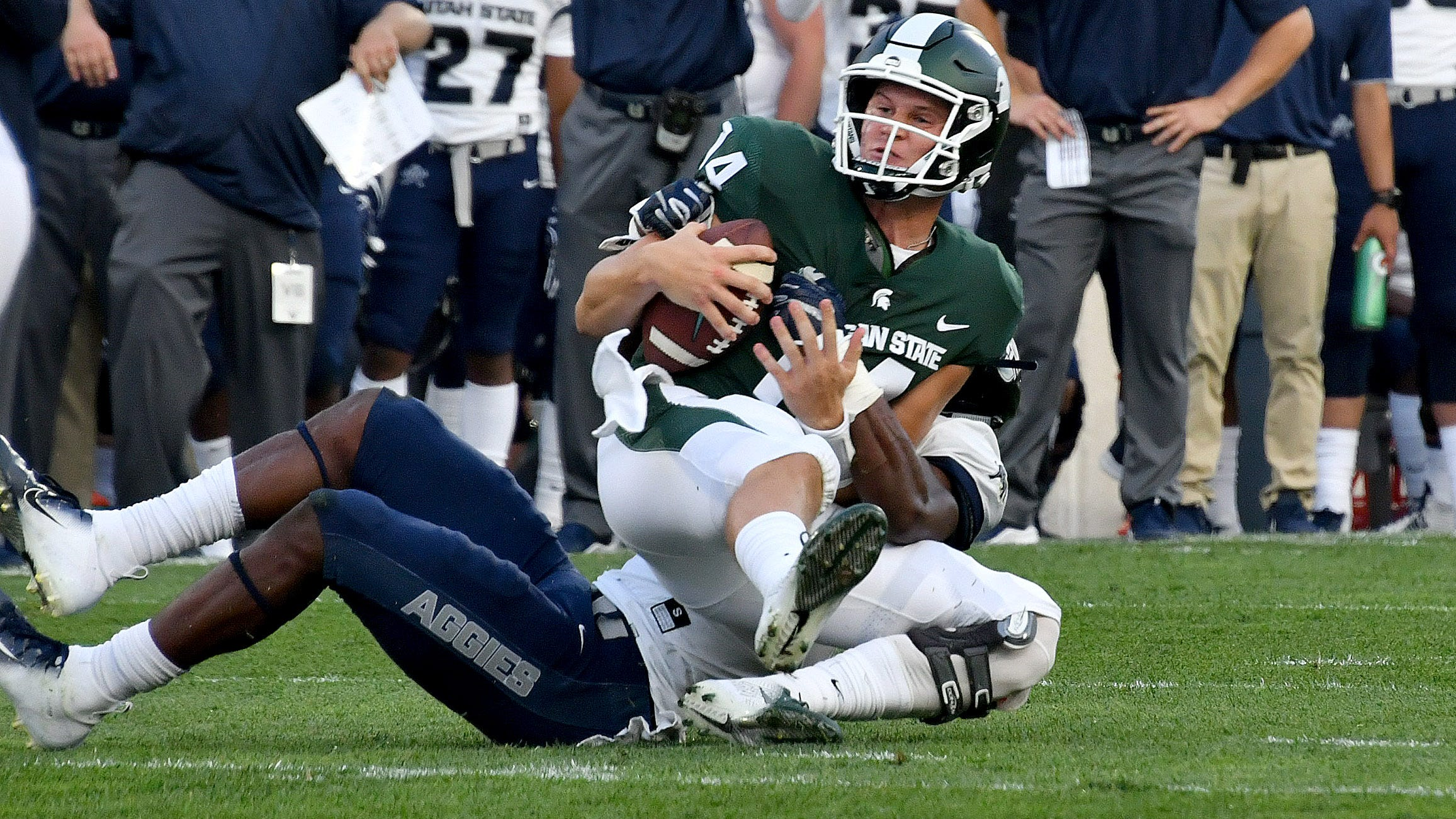 Michigan State offense still figuring out how to click