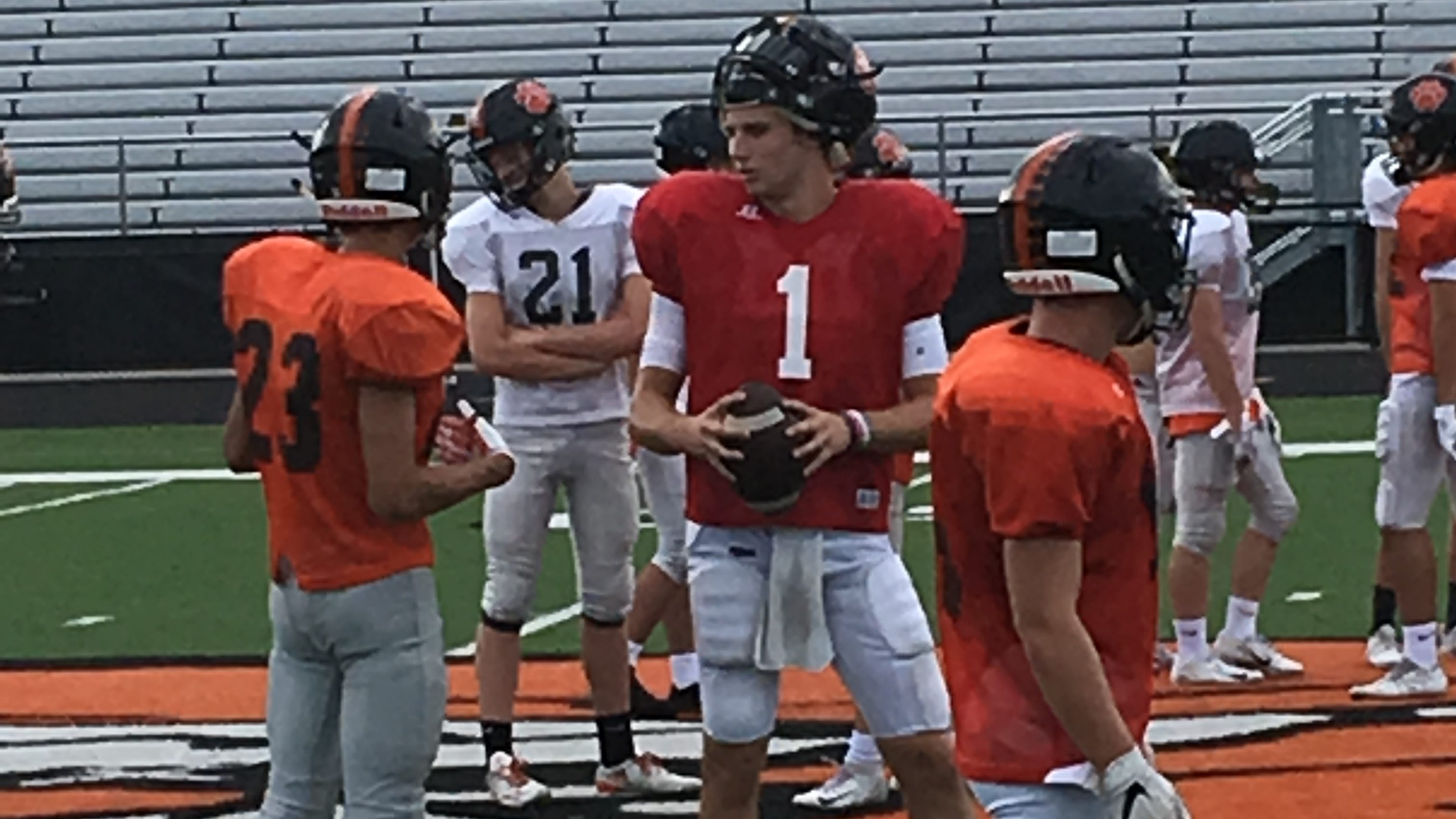 Brighton quarterback Will Jontz has offers from Butler, Davenport, and Olivet Nazarene, but Michigan State now is showing interest.