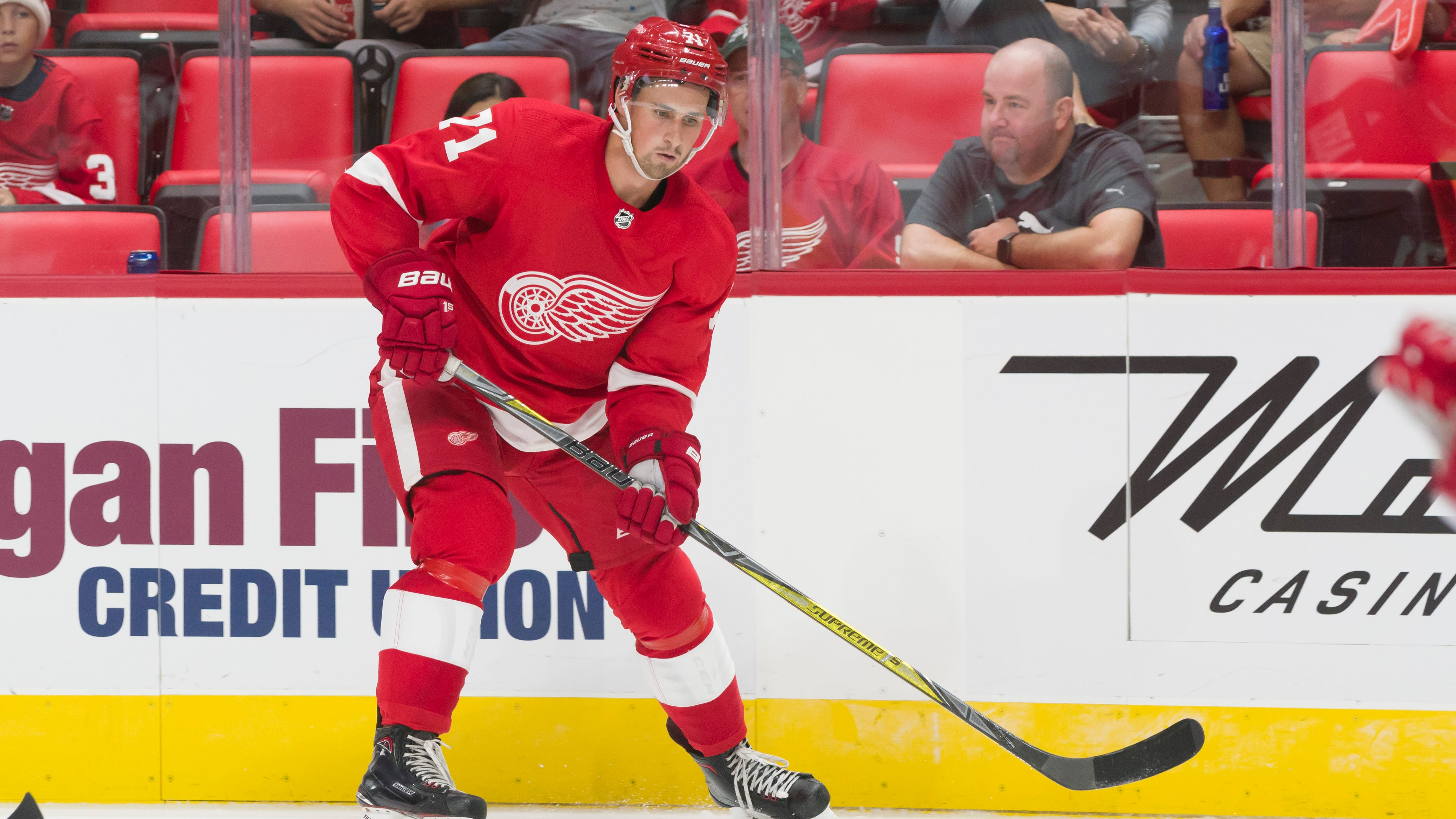 Dylan Larkin is the best candidate to be the Red Wings' next captain, but maybe not until next season.