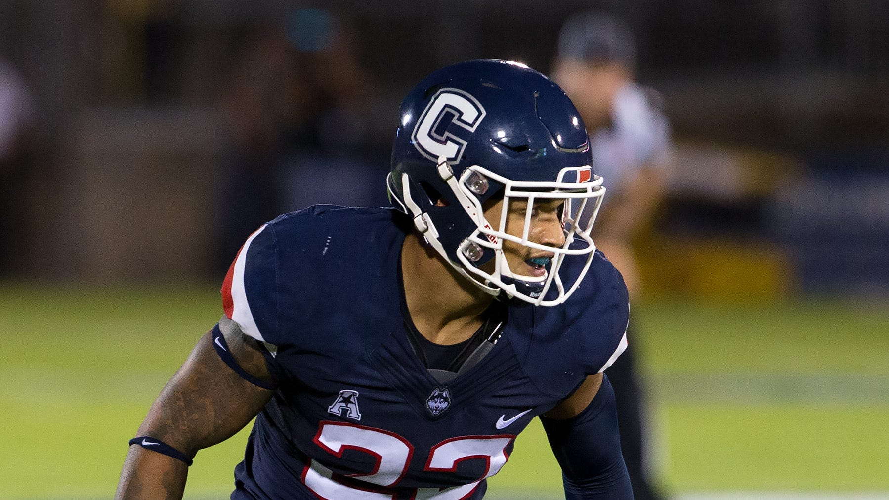 Eli Thomas is in his first season at UConn after playing at Lackawanna Community College.
