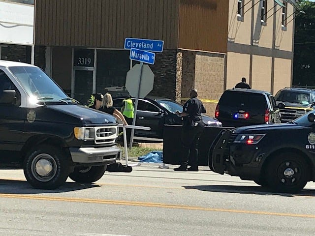 The Fort Myers Police Department was on the scene of a fatal crash on U.S. 41 near Maravilla Avenue on Wednesday, Sept. 19, 2018.