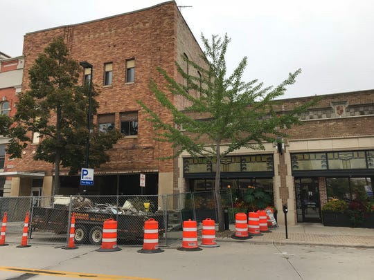 Republic Chophouse has started gutting the building north of it, formerly Lou's Bootery, to make way for an expansion that will include a patio.