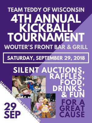 Team Teddy of Wisconsin is holding its annual kickball tournament on Sept. 29.