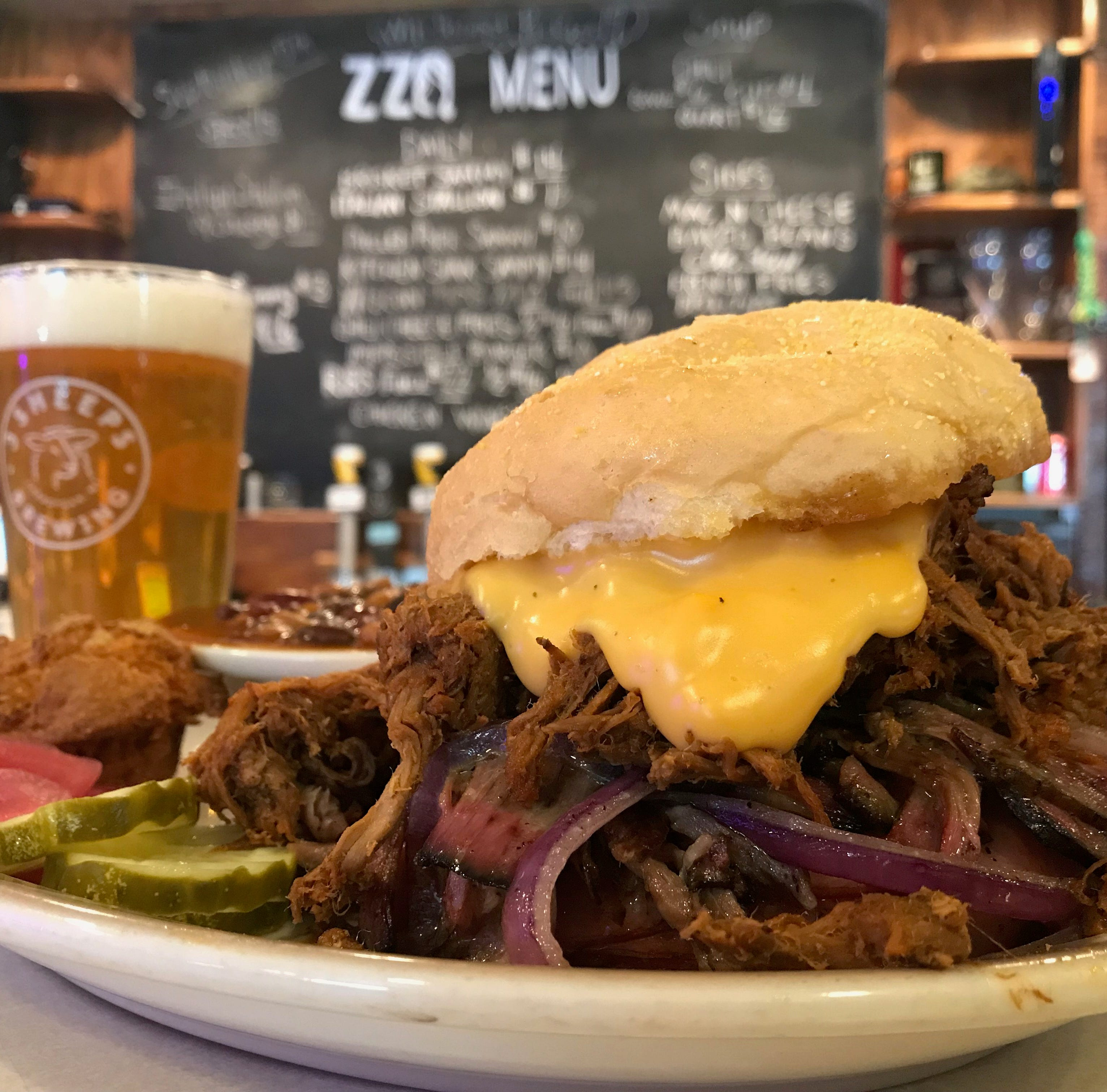 This is how ZZQ adds Wisconsin style to its massive BBQ sandwich