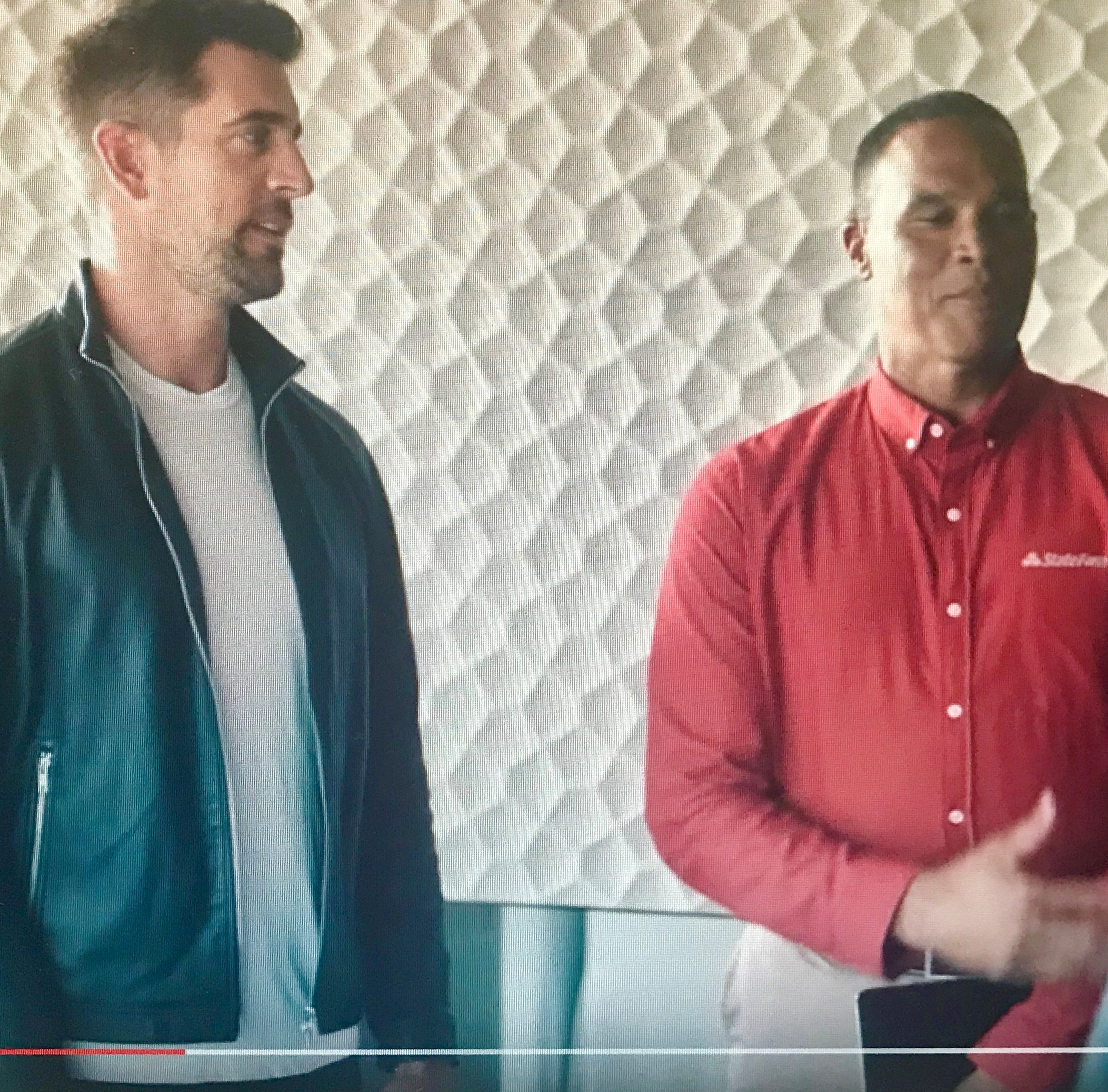 Aaron Rodgers' new State Farm ad is an ongoing, one-sided rivalry