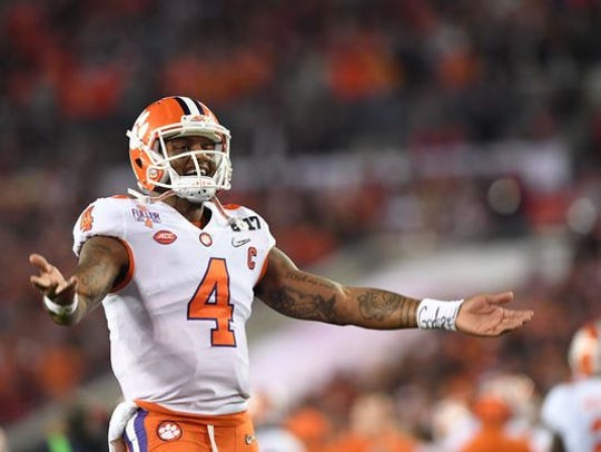 Clemson quarterback Deshaun Watson guided the Tigers to the national title in 2016.