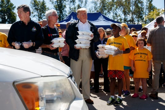 Image result for trump in north carolina for hurricane florence