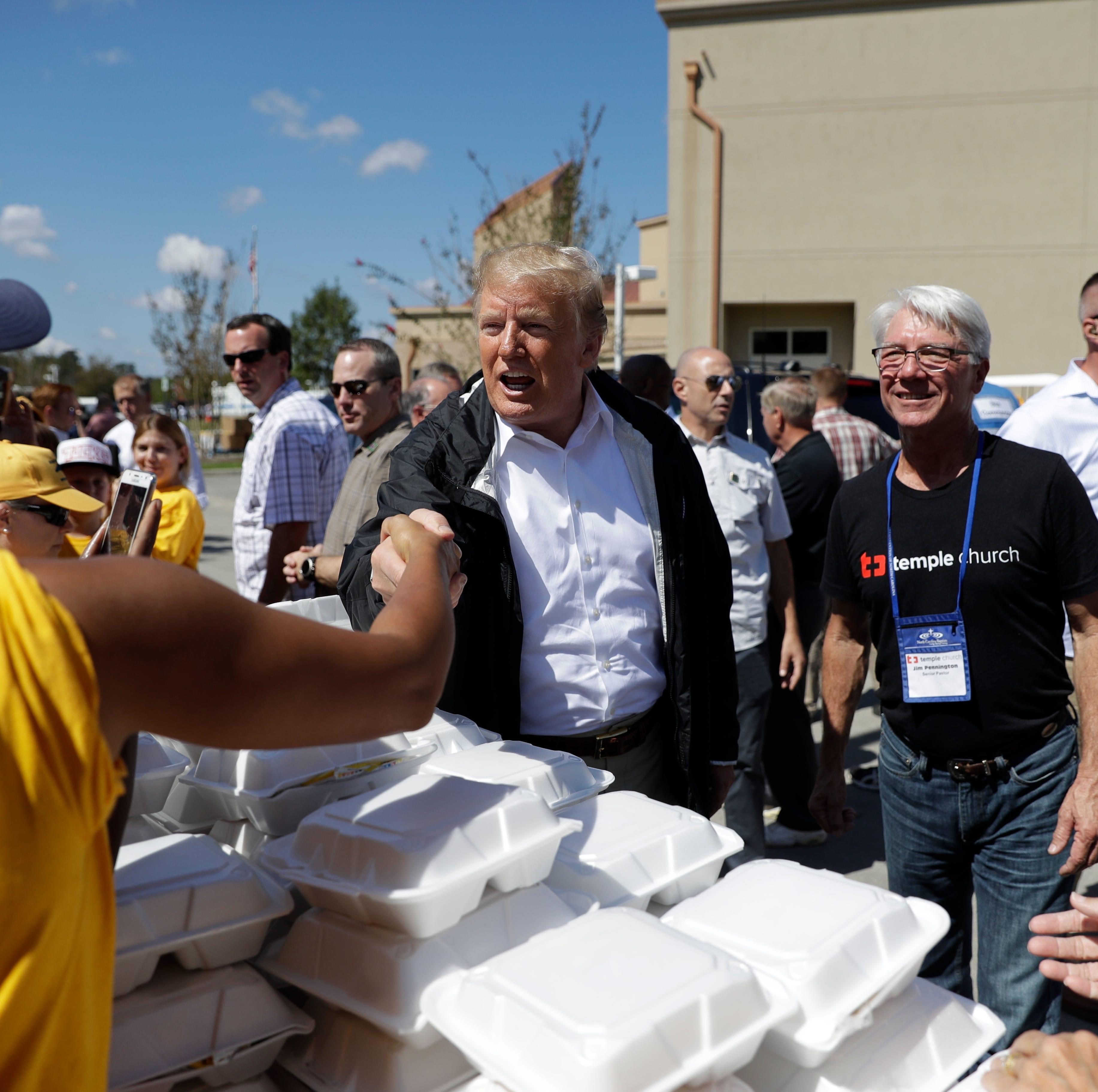 President Trump visits Conway SC neighborhood ravaged by Hurricane Florence floods