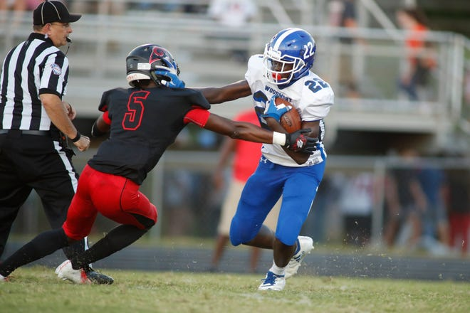 Sophomore running back Josh Kamoto (22) and the Woodmont Wildcats will host Wade Hampton Friday in a Region 1-AAAAA game.