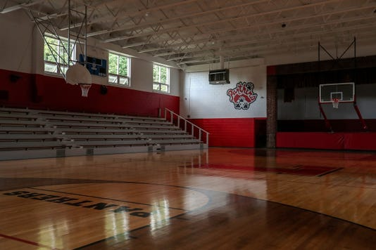 High School Turned Basketball Gymnasium And Community Center In Small Indiana Town Of Laurel