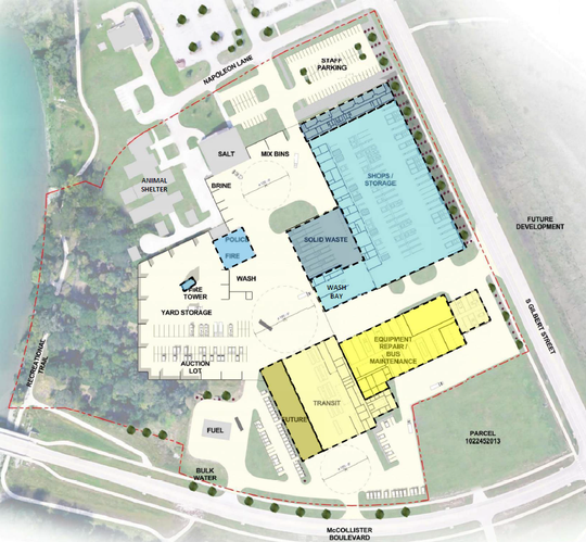 The 74,250 square foot Public Works Complex is expected to cost the City of Iowa City $12 million.