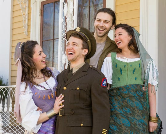 """Jacob Shipley, Keely Bochicchio-Sipos, Andrea D'Arco and Tyler Sapp starred in the Ithaca College's production of """"The Rover"""" in 2017."""