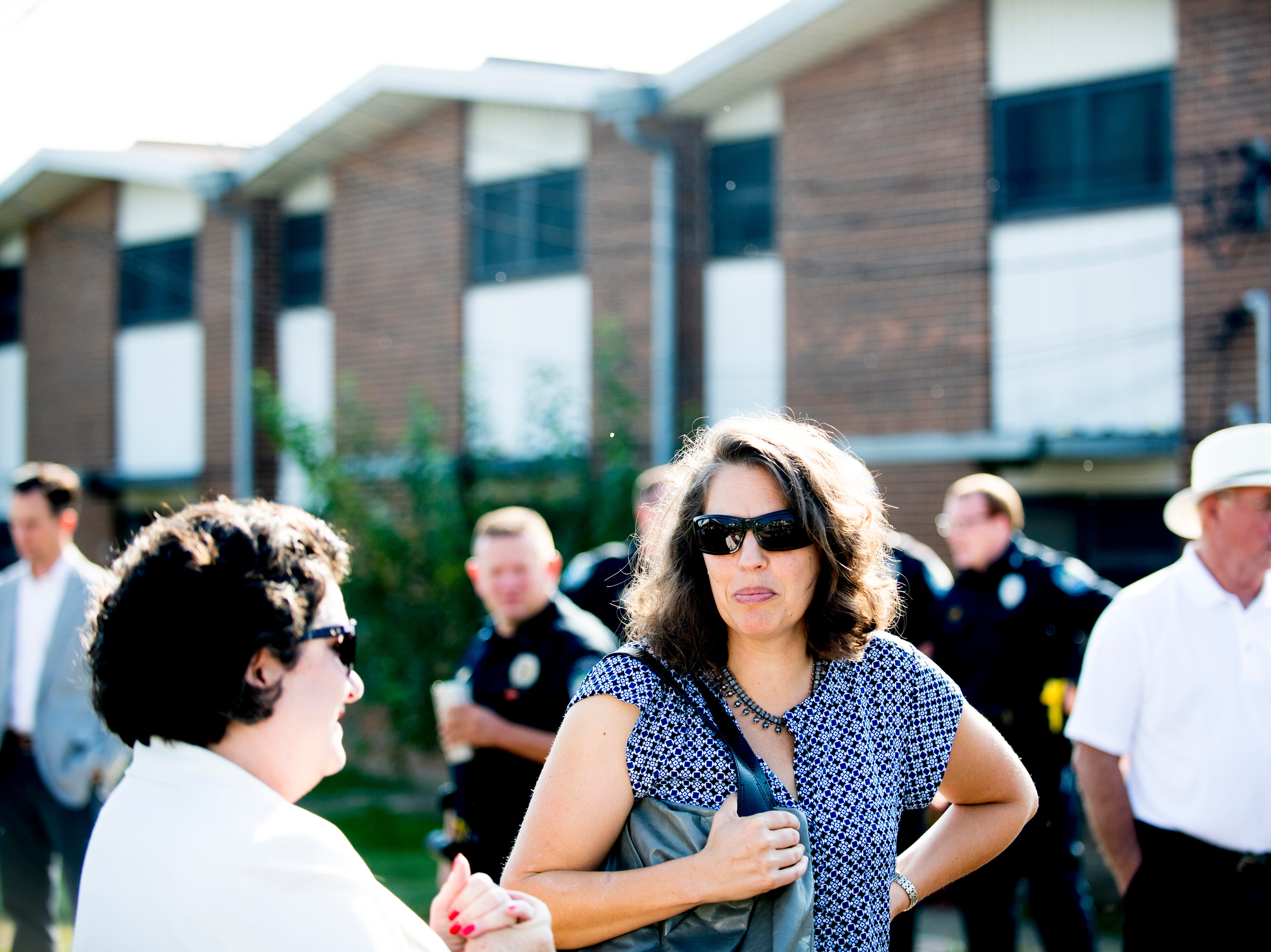Knoxville mayoral candidate Indya Kincannon attends the Five Points Phase 2 ribbon cutting ceremony in Knoxville, Tennessee on Wednesday, September 19, 2018. The 10-building, 84-unit affordable housing complex has been part of Mayor Rogero's focus on affordable housing.