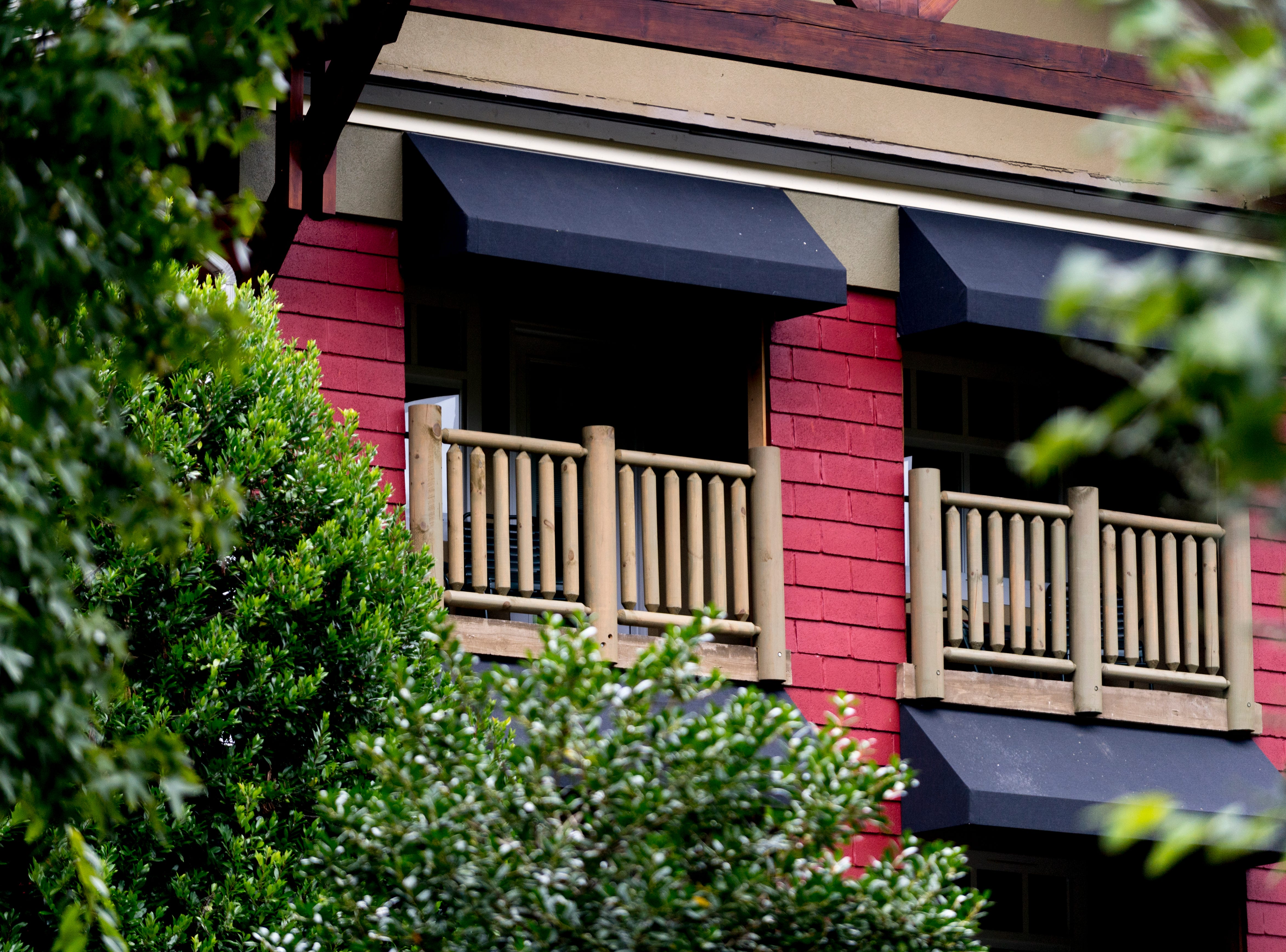 Some rooms include a balcony at The Appy Lodge in Gatlinburg, Tennessee on Tuesday, September 18, 2018. The hotel partnered with Appalachian organizations to create a Appalachian Trail theme.