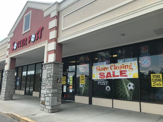 "Soccer Post, on Downtown West Boulevard, expects to go out of business before the end of 2018. On Wednesday, Sept. 19, 2018, the store had a ""Store Closing Sale"" in the window."