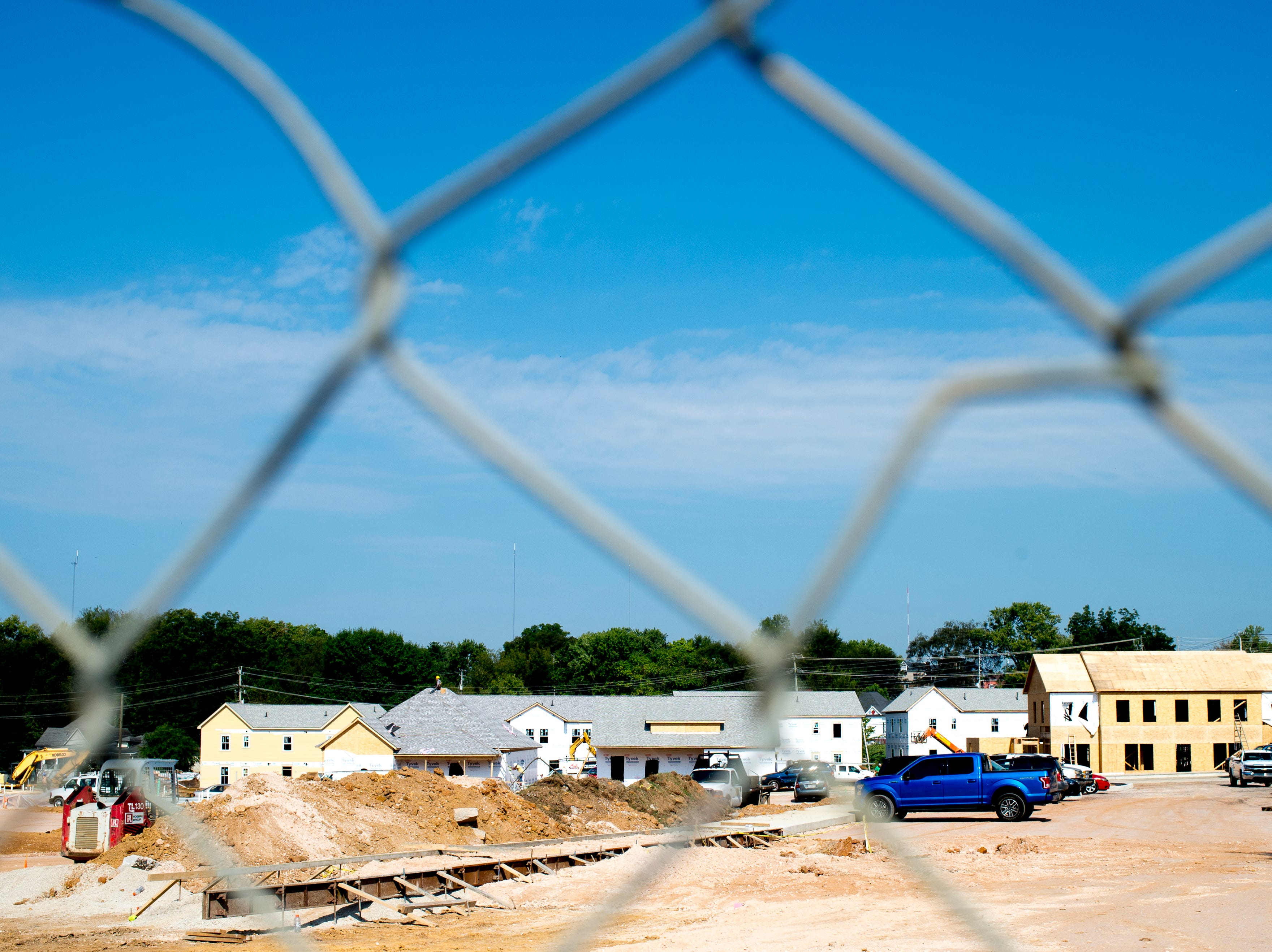 Construction continues at the Five Points Phase 3 affordable housing complex in Knoxville, Tennessee on Wednesday, September 19, 2018. The 10-building, 84-unit affordable housing complex has been part of Mayor Rogero's focus on affordable housing.