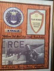 Leon Cagle was given this plaque to commemorate a competition during his Air Force service.